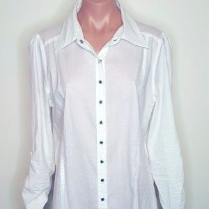 BCBG XL Maxi Button Down Shirt / Jacket